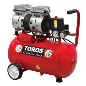 Αεροσυμπιεστής 24LT/0.75HP OILFREE Χαμ.θορύβου Toros