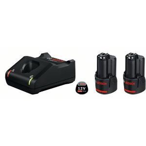 Σετ Φορτιστή GAL 12V-40 και Μπαταριών 12V με 2 Μπαταρίες 3.0Ah Bosch