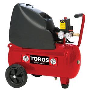 Αεροσυμπιεστής Τροχήλατος Μονομπλόκ Oil Free 24lt/2HP Toros
