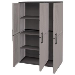 Ντουλάπα Πλαστική με Ράφια & 3 Πόρτες Σειρά Easy Unimac