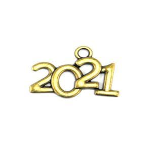 Μεταλλικό κρεμαστό 2021 σετ 4 τεμαχίων 1.7x2.2cm