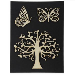 Ξύλινο Διακοσμητικό Δέντρο και πεταλούδες