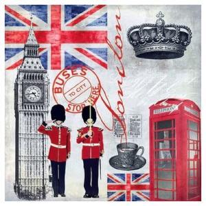 Χαρτοπετσέτα για Decoupage London Time