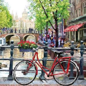 Χαρτοπετσέτα για Decoupage Amsterdam Canal