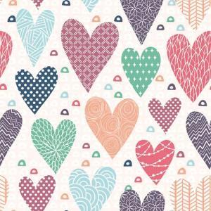 Χαρτοπετσέτα για Decoupage Patterned Hearts