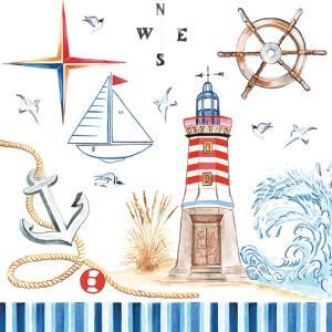 Χαρτοπετσέτα για Decoupage Seaside Memories