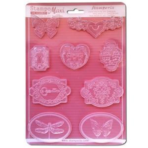 Εύκαμπτο Καλούπι για Σαπούνι-Γύψο - 21x29.7cm - Ρομαντικά Καμεό & Κλειδαριές