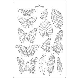 Εύκαμπτο Καλούπι για Σαπούνι-Γύψο - 21x29.7cm - Amazonia Leaves and Butterflies