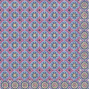 Χαρτοπετσέτα για decoupage Marrakesch blue-pink