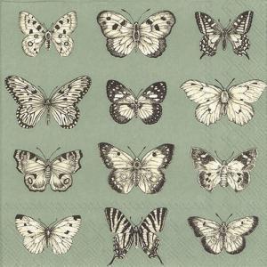 Χαρτοπετσέτα για decoupage Butterflies green