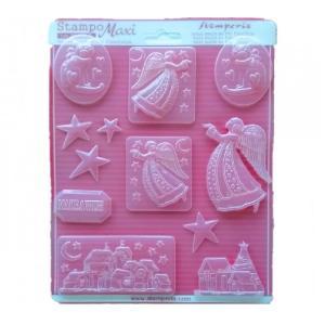 Εύκαμπτο Καλούπι για Σαπούνι-Γύψο - 21x29.7cm - Χριστουγεννιάτικο