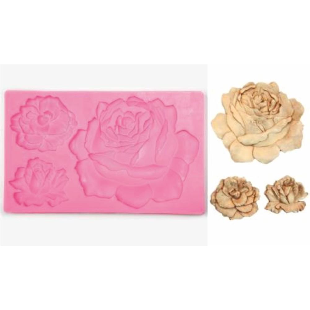 Καλούπι σιλικόνης τριαντάφυλλο 12.2cm x 19.7cm  050515133