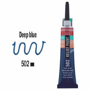 3d Relief Decorfin 20ml 502 Deep Blue