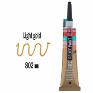 3d Relief Decorfin 20ml 802 Light Gold