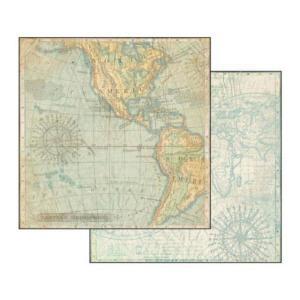 Χαρτί Scrapbooking Διπλής Όψεως Χάρτης 30.5x30.5cm Stamperia