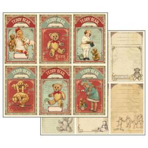 Χαρτί Scrapbooking Διπλής Όψεως 30.5x30.5cm Stamperia