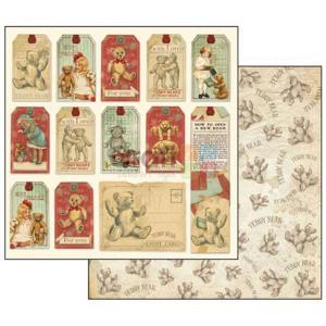 Χαρτιά Scrapbooking Διπλής Όψεως Teddy Bear Tags 30.5x30.5cm Stamperia