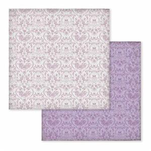 Χαρτί Scrapbooking Διπλής Όψεως Μωβ Μπαρόκ Σχέδιο 30.5x30.5cm Stamperia