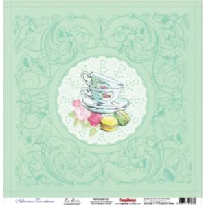 Χαρτί Scrapbooking One Side 30.5x30.5cm 180gsm Afternoon Tea Tea Parlor