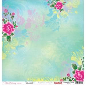 Χαρτί Scrapbooking Double-Sided 30.5x30.5cm Floral Embroidery, French Knot
