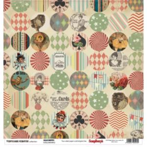Χαρτί Scrapbooking Double-Sided 30.5x30.5cm Vintage Circus, Confetti