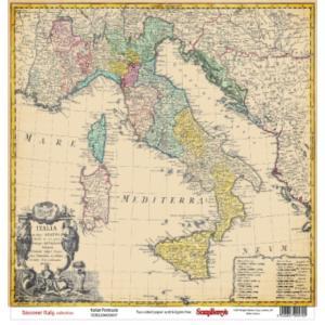Χαρτί Scrapbooking Double-Sided 30.5x30.5cm Discover Italy, Italian Peninsula