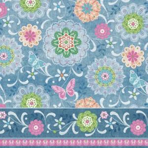 Χαρτοπετσέτα για Decoupage Blue Mandalas Pattern