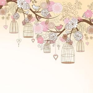 Χαρτοπετσέτα για Decoupage Birdcages on the trees
