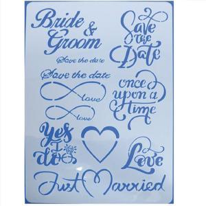 Stencil Bride 21x30cm