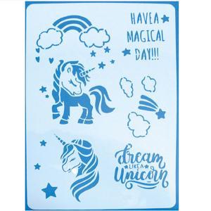 Stencil Unicorn 21x30cm