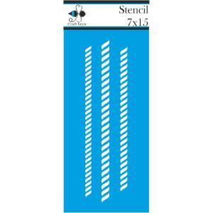 Στενσιλ ναυτικό σχοινί 7x15 Craft Bees