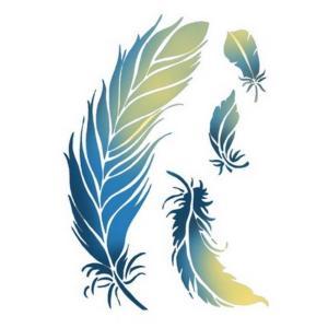 Στενσιλ διακοσμητικό feathers 15x20 Stamperia