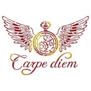 Στενσιλ διακοσμητικό carpe diem 15x20 Stamperia
