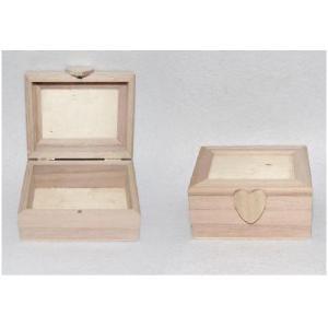 Ξύλινο κουτί παραλληλόγραμμο12x8cm