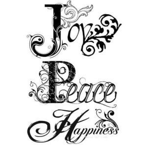 Σφραγίδα HD Joy Peace Happiness