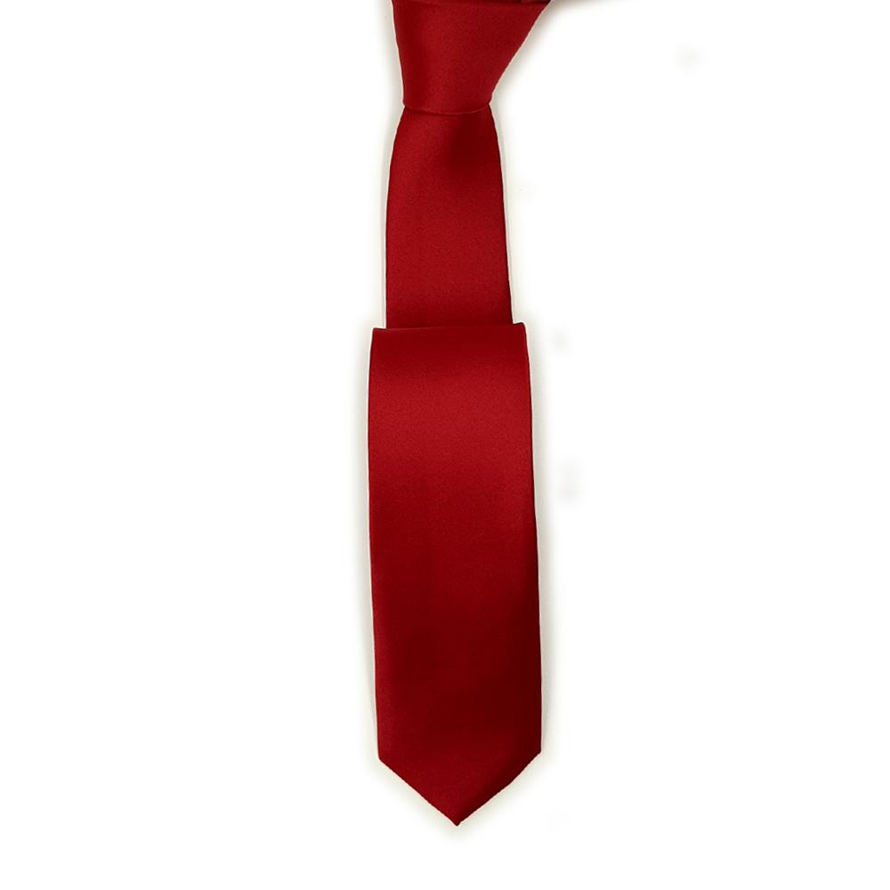 Slim Silk Red Tie
