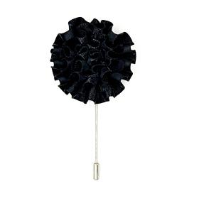Black Flower Lapel Pin