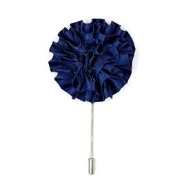 Blue Flower Lapel Pin