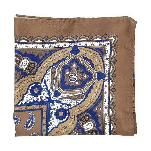 Brown and Blue paisley scarf