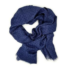 Blue Pattern Scarf