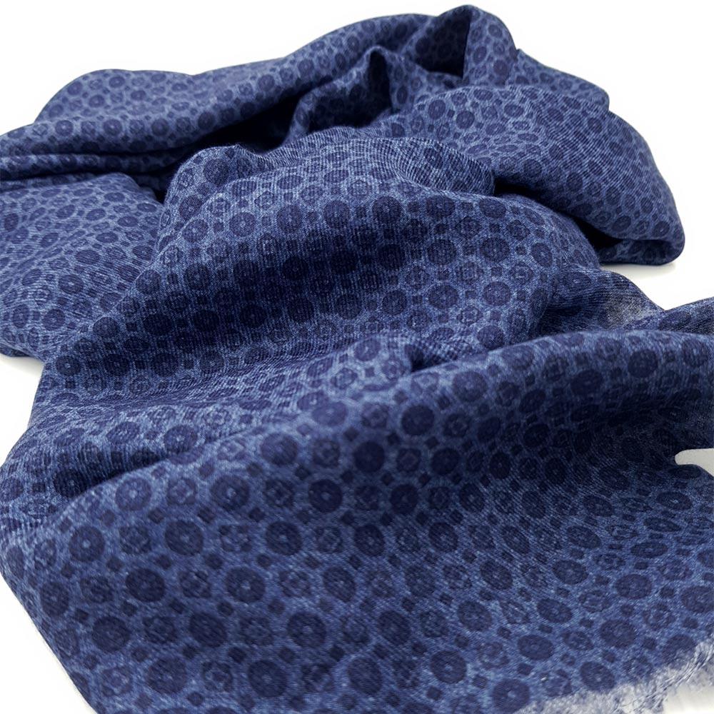 Blue Pattern Scarf