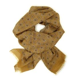 Light Brown with Cream pattern scarf