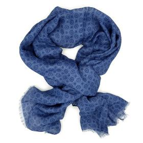 Blue Geo Pattern Scarf.