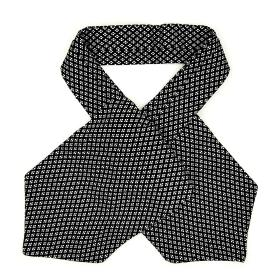Black Ascot with White Geo Pattern