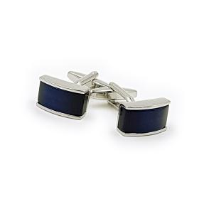 Silver Cufflinks with Blue Pearl