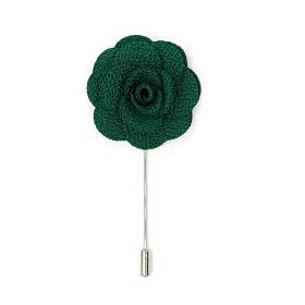 Green Flower Lapel Pin