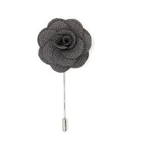 Grey Flower Lapel Pin