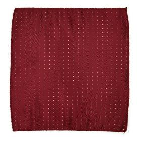 Bordeaux Polka Dot Pocket Square