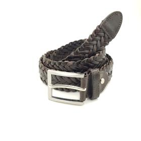 Dark Brown Braided Belt