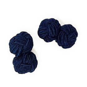 Navy Knot Cufflinks